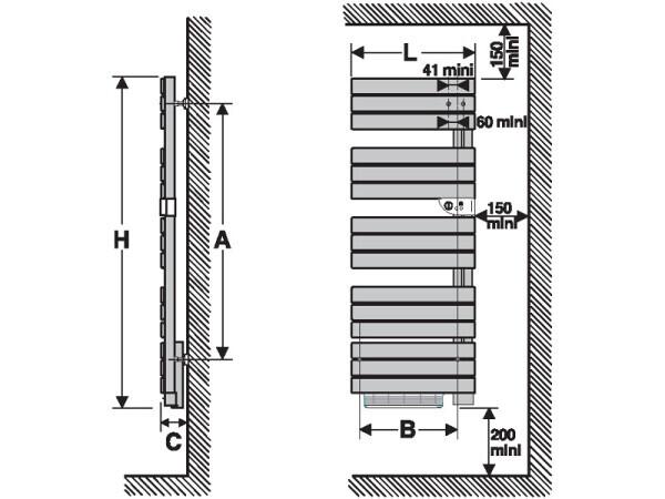 Nefertiti badkamer radiator