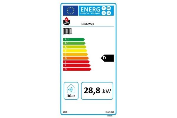 E-Tech W 28 Energielabel