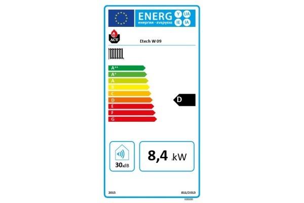 E-Tech W 09 Energielabel