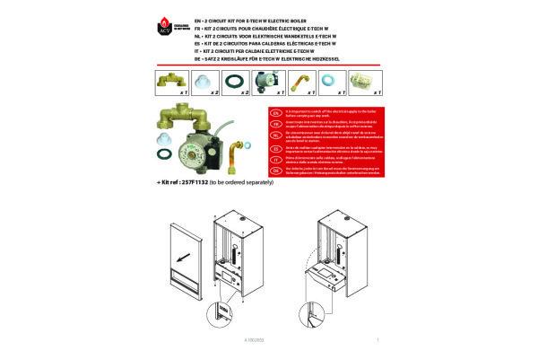Bekabeling SWW i.c.m. platenwisselaar of externe boiler