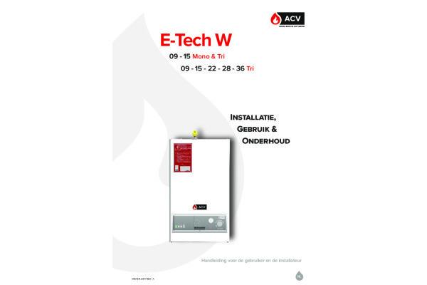 Handleiding E-Tech W Nieuw