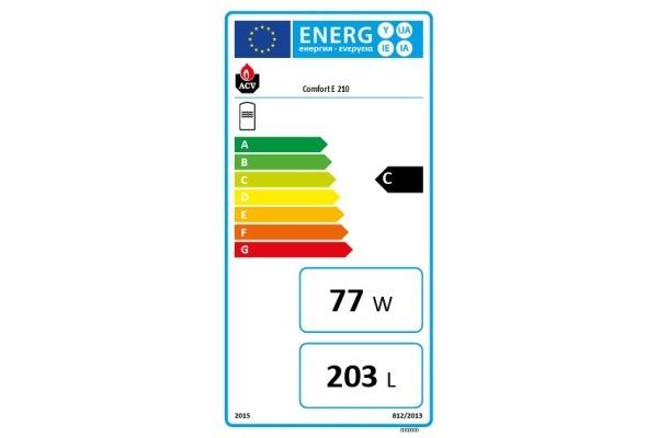 Comfort E 210 Energielabel
