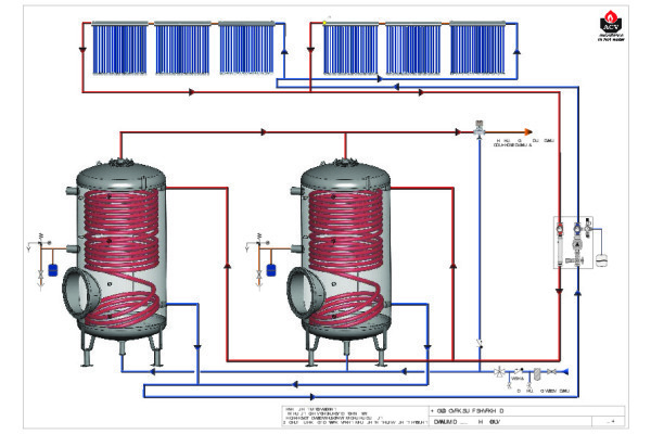 Schema 2 HeatMaster met Jumbo - voorverwarming SWW