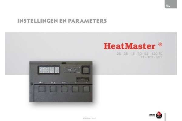 Instellingen en parameters HeatMaster HR