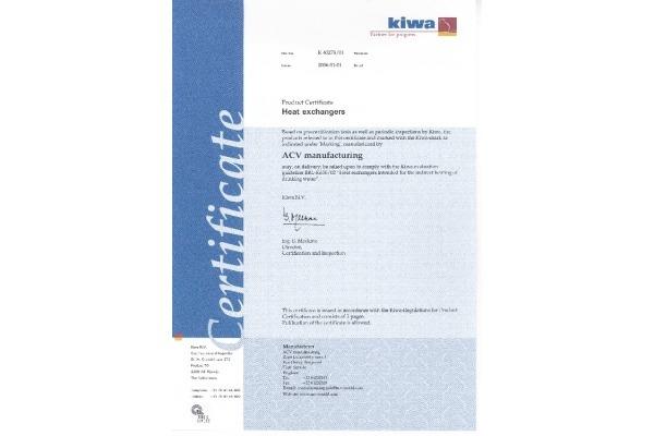KIWA certificaat HeatMaster range