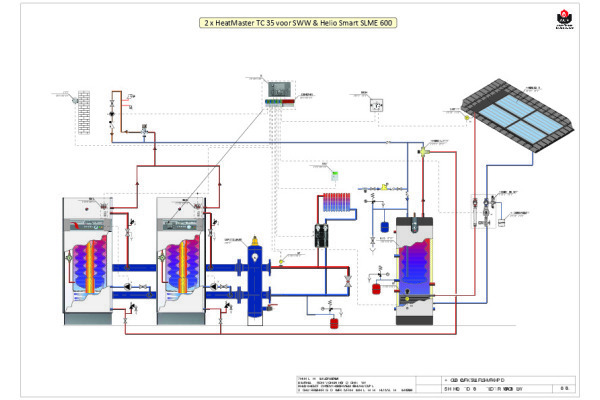 Schema 2 HeatMaster (cascade) - Smart ME - HelioSmart