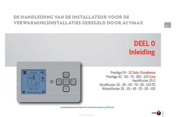 Handleiding ACV MAX HeatMaster TC & WaterMaster