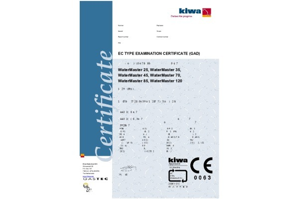 Kiwa CE certificering ACV WaterMaster