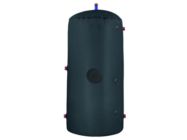Staande voorraadvaten met extra grote spiraal geschikt voor de opslag van warm sanitair water. Uitgevoerd met geëmailleerd staal